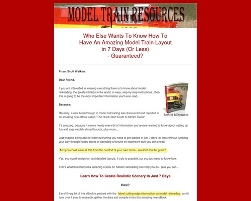 The Quick Start Guide To Model Trains