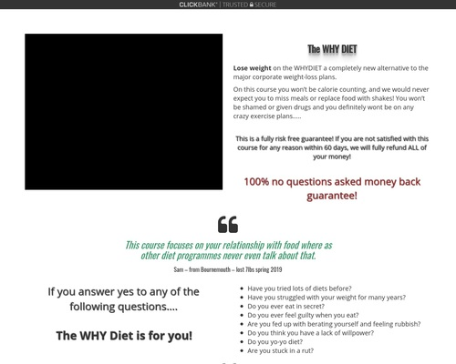 The Why Diet