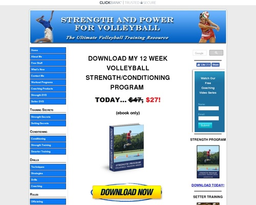 Volleyball Strength! – Strength And Conditioning The Right Way