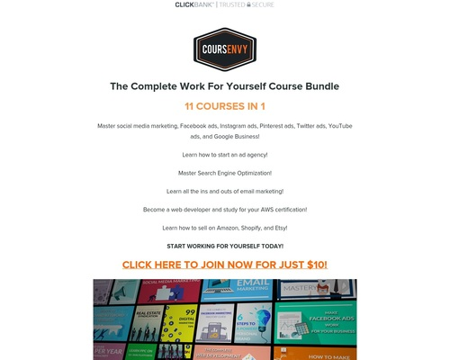 Work From Home Course Bundle By Coursenvy