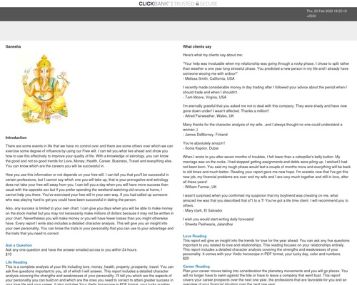 Indian Vedic Astrology.