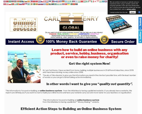 Carl Henry Online Success We Are Focused On Affiliate Partner Success