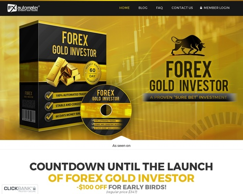 Forex Gold Investor – Best Converting Forex Robot For Gold! New 2017!