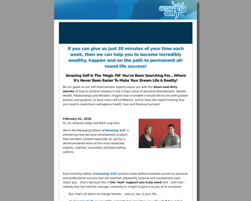 Amazing Self – 60% Recurring Commissions!