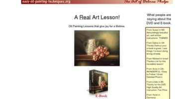 Real Art Lessons, Downloadable E-books By Artist Delmus Phelps