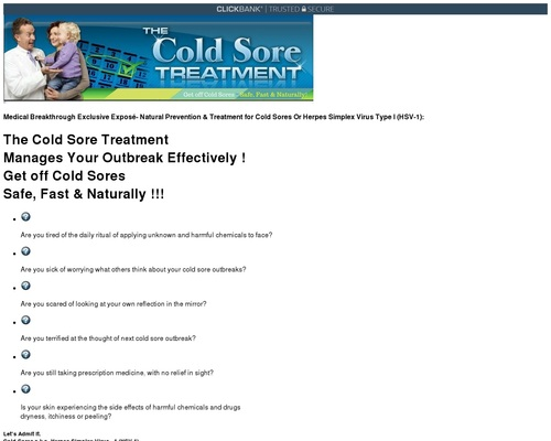 Cold Sore Treatment – Learn How To Get Rid Of Cold Sores Faster